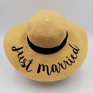 C.C. Just Married Straw Hat
